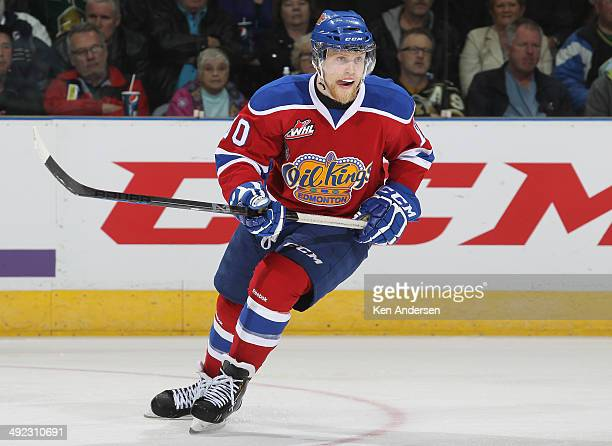 Henrik Samuelsson of the Edmonton Oil Kings skates against the London Knights in Game Three of the 2014 MasterCard Memorial Cup at Budweiser Gardens...