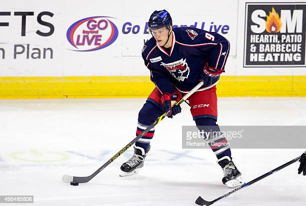 Henrik Samuelsson of the Springfield Falcons skates against the Providence Bruins during an American Hockey League game at the Dunkin' Donuts Center...