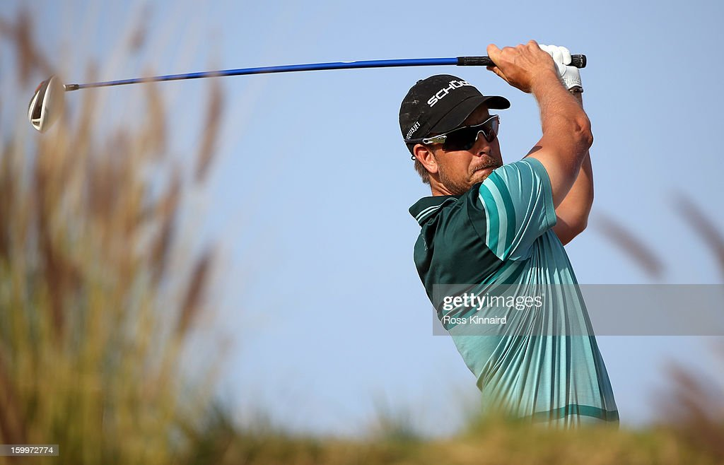 Henrik Stenson of Sweden during the second round of the Commercial Bank Qatar Masters at The Doha Golf Club on January 24, 2013 in Doha, Qatar.