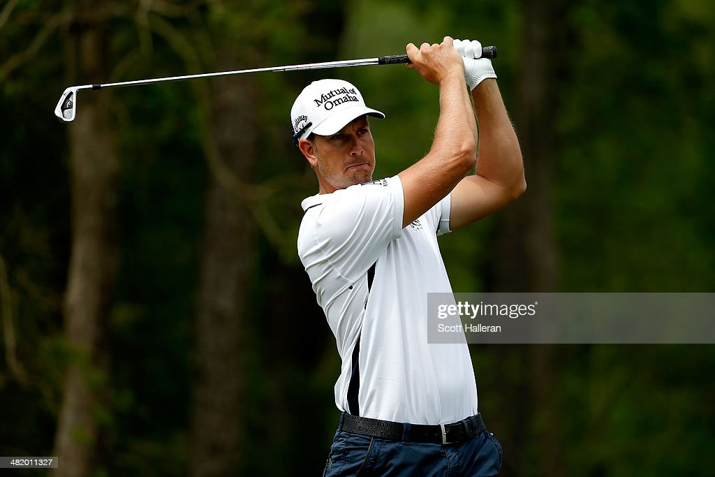 Henrik Stenson of Sweden hits a shot during the pro-am prior to the start of the Shell Houston Open at the Golf Club of Houston on April 2, 2014 in Humble, Texas.