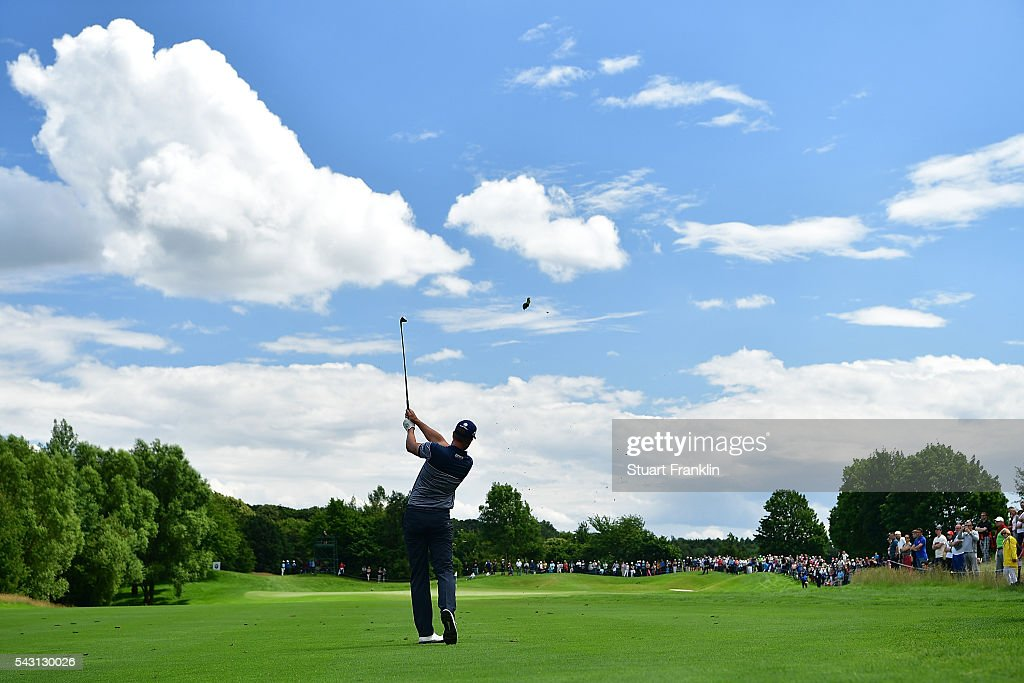 <a gi-track='captionPersonalityLinkClicked' href=/galleries/search?phrase=Henrik+Stenson&family=editorial&specificpeople=211537 ng-click='$event.stopPropagation()'>Henrik Stenson</a> of Sweden hits an approach shot during the final round of the BMW International Open at Gut Larchenhof on June 26, 2016 in Cologne, Germany.