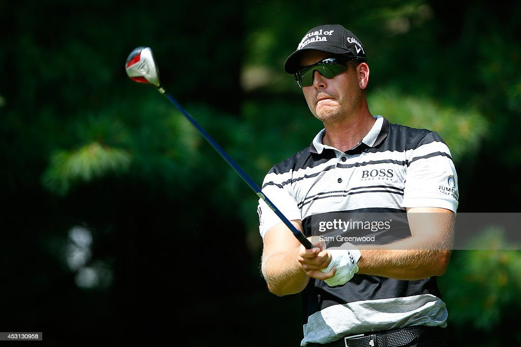 Henrik Stenson of Sweden hits off the second tee during the final round of the World Golf Championships-Bridgestone Invitational at Firestone Country Club South Course on August 3, 2014 in Akron, Ohio.