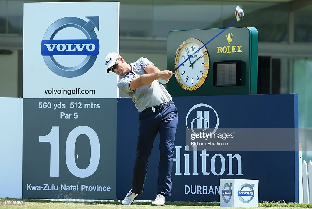 Henrik Stenson of Sweden in action during the Pro-Am for the Volvo Champions at Durban Country Club on January 9, 2013 in Durban, South Africa.