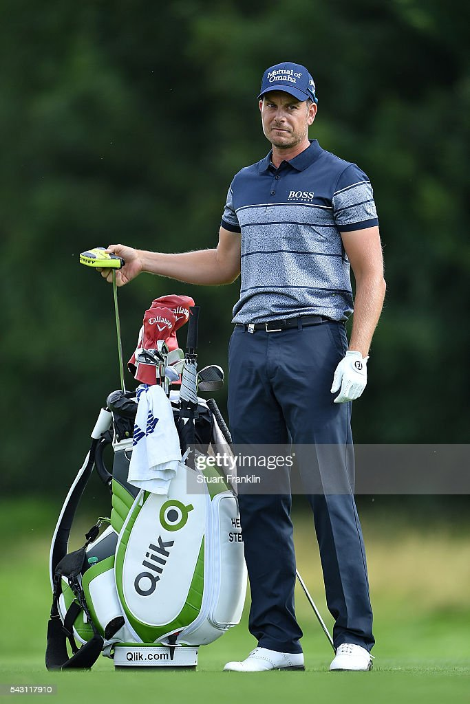 <a gi-track='captionPersonalityLinkClicked' href=/galleries/search?phrase=Henrik+Stenson&family=editorial&specificpeople=211537 ng-click='$event.stopPropagation()'>Henrik Stenson</a> of Sweden looks on during the rain delayed third round of the BMW International Open at Gut Larchenhof on June 26, 2016 in Cologne, Germany.