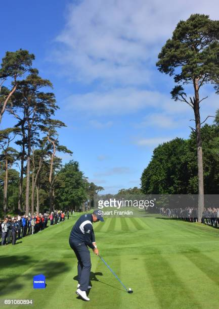 Henrik Stenson of Sweden plays a shot during the first round of the Nordea Masters at Barseback Golf Country Club on June 1 2017 in Barsebackshamn...