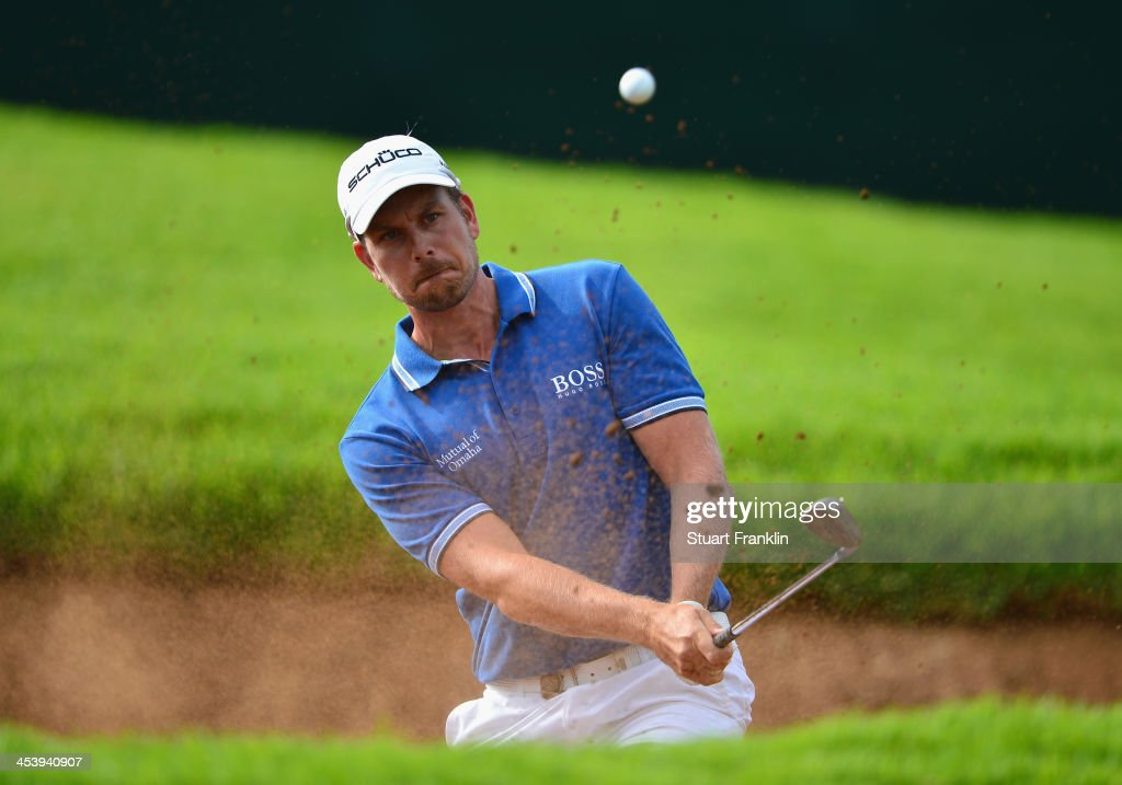 Henrik Stenson of Sweden plays a shot during the second round of the Nedbank Golf Challenge at Gary Player CC on December 6 2013 in Sun City South...