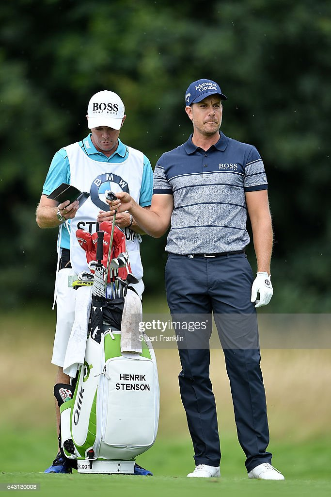 <a gi-track='captionPersonalityLinkClicked' href=/galleries/search?phrase=Henrik+Stenson&family=editorial&specificpeople=211537 ng-click='$event.stopPropagation()'>Henrik Stenson</a> of Sweden pulls a club during the final round of the BMW International Open at Gut Larchenhof on June 26, 2016 in Cologne, Germany.