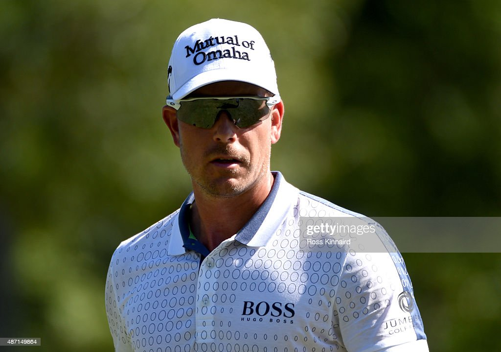 <a gi-track='captionPersonalityLinkClicked' href=/galleries/search?phrase=Henrik+Stenson&family=editorial&specificpeople=211537 ng-click='$event.stopPropagation()'>Henrik Stenson</a> of Sweden walks off the seventh green during round three of the Deutsche Bank Championship at TPC Boston on September 6, 2015 in Norton, Massachusetts.