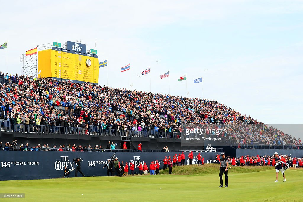 Henrik Stenson of Sweden walks onto the 18th green during the final round on day four of the 145th Open Championship at Royal Troon on July 17 2016...