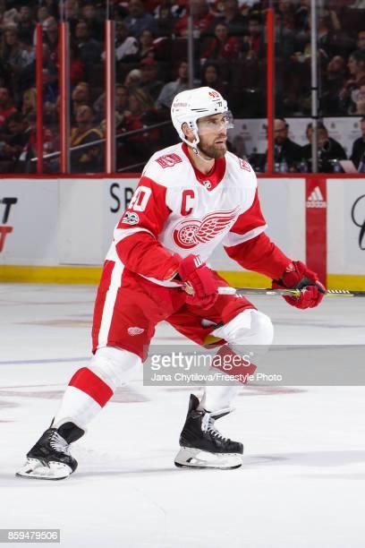 Henrik Zetterberg of the Detroit Red Wings skates against the Ottawa Senators at Canadian Tire Centre on October 7 2017 in Ottawa Ontario Canada