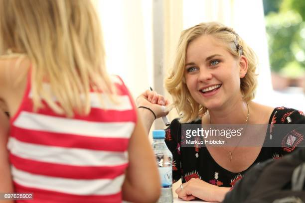 Henrike Fehrs during the celebration of 2500 episodes of 'Rote Rosen' on June 18 2017 in Lueneburg Germany