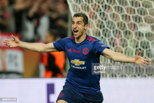 Henrikh Mkhitaryan during the UEFA Europa League Final match between Ajax and Manchester United at Friends Arena on May 24 2017 in Stockholm Sweden
