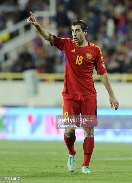 Henrikh Mkhitaryan of Armenia during the FIFA 2014 World Cup Qualifier group B match between Armenia and Italy at Hrazdan Stadium on October 12 2012...
