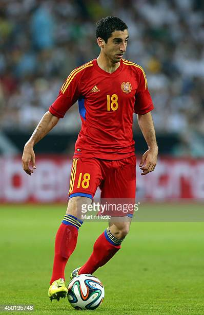 Henrikh Mkhitaryan of Armenia runs with the ball during the International Friendly Match between Germany and Armenia at coface Arena on June 6 2014...