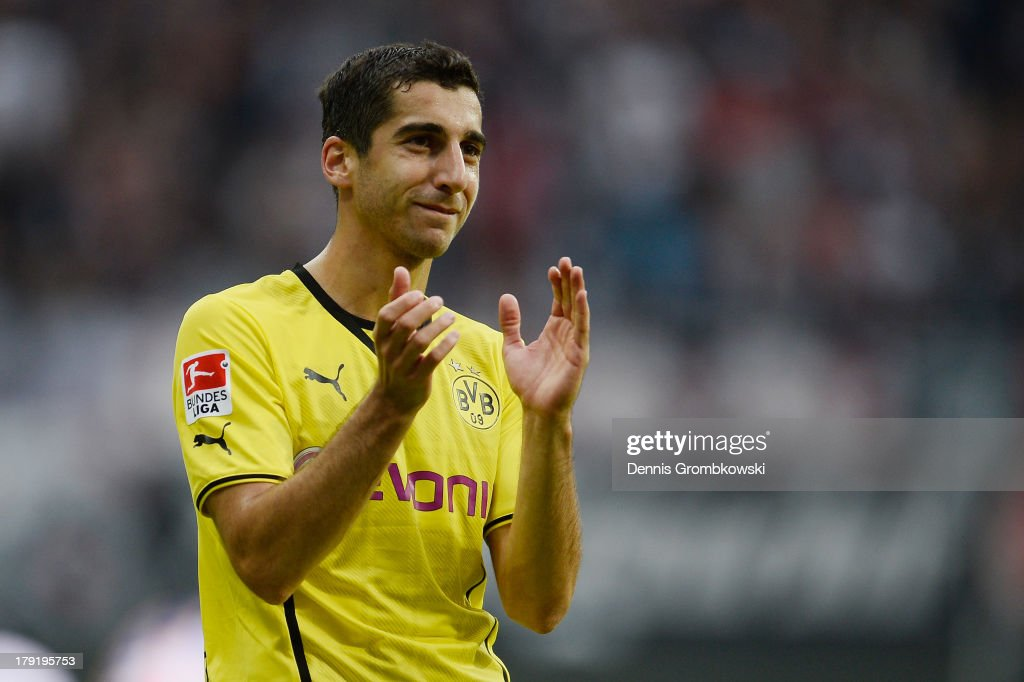 <a gi-track='captionPersonalityLinkClicked' href=/galleries/search?phrase=Henrikh+Mkhitaryan&family=editorial&specificpeople=6234732 ng-click='$event.stopPropagation()'>Henrikh Mkhitaryan</a> of Borussia Dortmund celebrates after the Bundesliga match between Eintracht Frankfurt and Borussia Dortmund at Commerzbank Arena on September 1, 2013 in Frankfurt am Main, Germany.