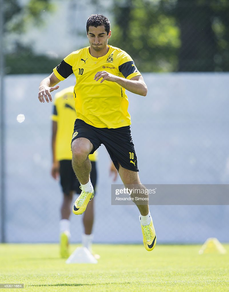 Henrikh Mkhitaryan (BVB) of Borussia Dortmund during a training session in the Borussia Dortmund training camp on July 31, 2014 in Bad Ragaz, Switzerland.