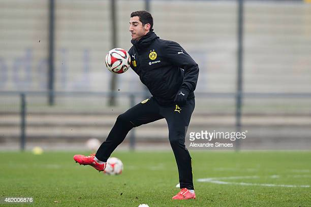 Henrikh Mkhitaryan of Borussia Dortmund returns to team training at Borussia Dortmund training center on JANUARY 23 2015 in Dortmund North...
