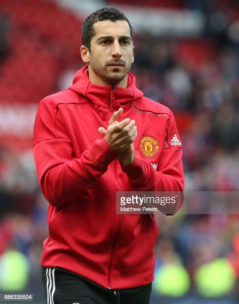 Henrikh Mkhitaryan of Manchester United applauds the fans after the Premier League match between Manchester United and Crystal Palace at Old Trafford...