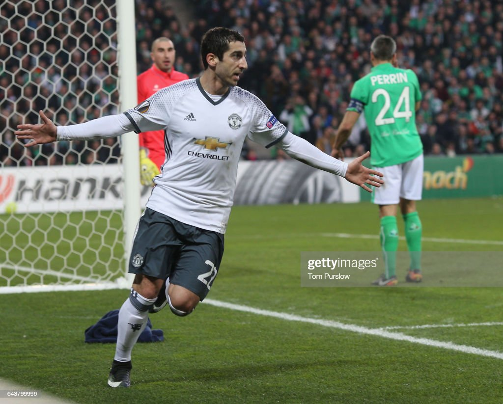 AS Saint-Etienne v Manchester United - UEFA Europa League Round of 32: Second Leg