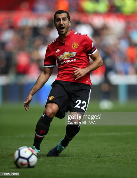 Henrikh Mkhitaryan of Manchester United during the Premier League match between Swansea City and Manchester United at Liberty Stadium on August 19...