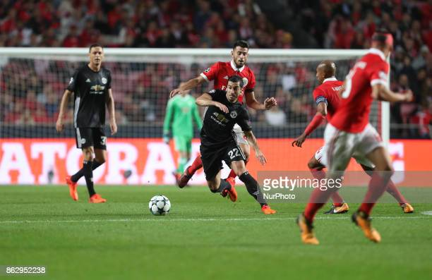 Henrikh Mkhitaryan of Manchester United during the UEFA Champions League group A match between SL Benfica and Manchester United at Estadio da Luz on...