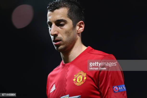 Henrikh Mkhitaryan of Manchester United during the UEFA Europa League quarter final second leg match between Manchester United and RSC Anderlecht at...