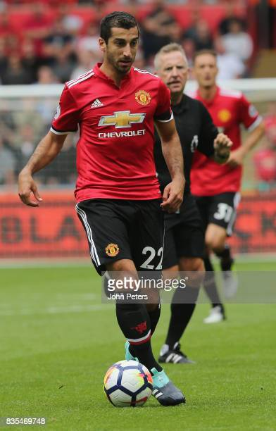 Henrikh Mkhitaryan of Manchester United in action during the Premier League match between Swansea City and Manchester United at Liberty Stadium on...