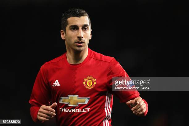 Henrikh Mkhitaryan of Manchester United looks on during the UEFA Europa League quarter final second leg match between Manchester United and RSC...