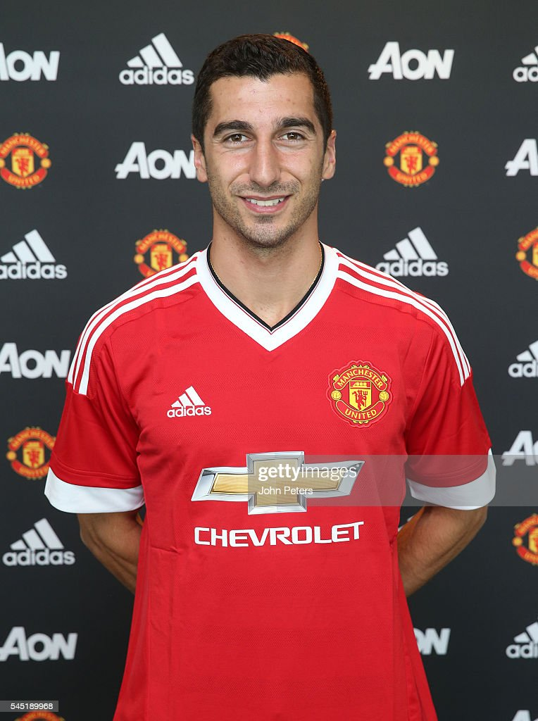 Manchester United Unveil New Signing Henrikh Mkhitaryan