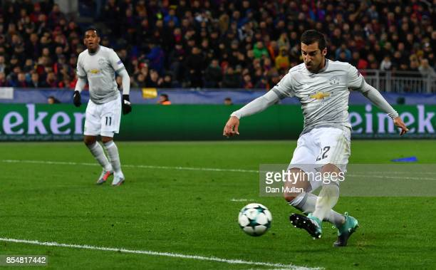 Henrikh Mkhitaryan of Manchester United scores his sides fourth goal during the UEFA Champions League group A match between CSKA Moskva and...