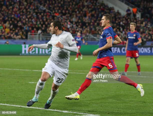 Henrikh Mkhitaryan of Manchester United scores their fourth goal during the UEFA Champions League group A match between CSKA Moskva and Manchester...