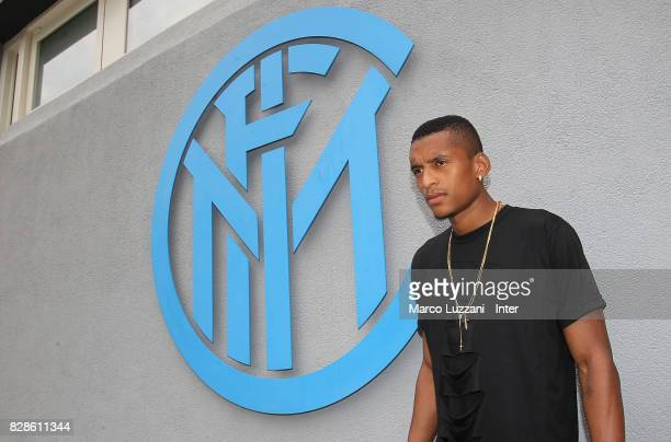 Henrique Dalbert of FC Internazionale arrives at the club's training ground Suning Training Center in memory of Angelo Moratti on August 8 2017 in...