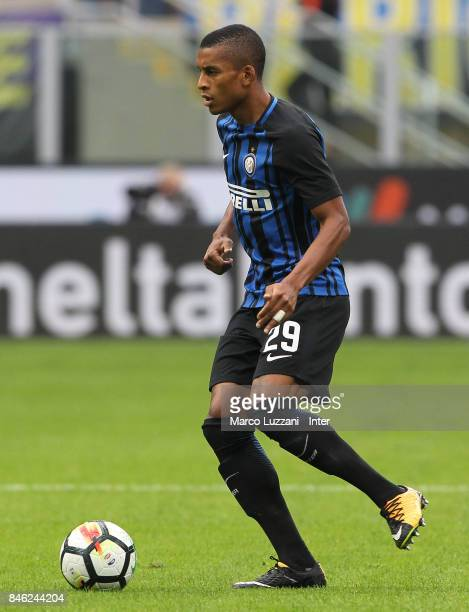 Henrique Dalbert of FC Internazionale Milano in action during the Serie A match between FC Internazionale and Spal at Stadio Giuseppe Meazza on...