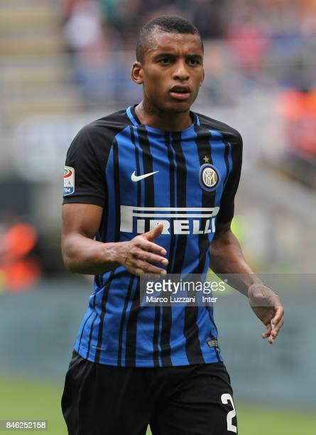 Henrique Dalbert of FC Internazionale Milano looks on during the Serie A match between FC Internazionale and Spal at Stadio Giuseppe Meazza on...