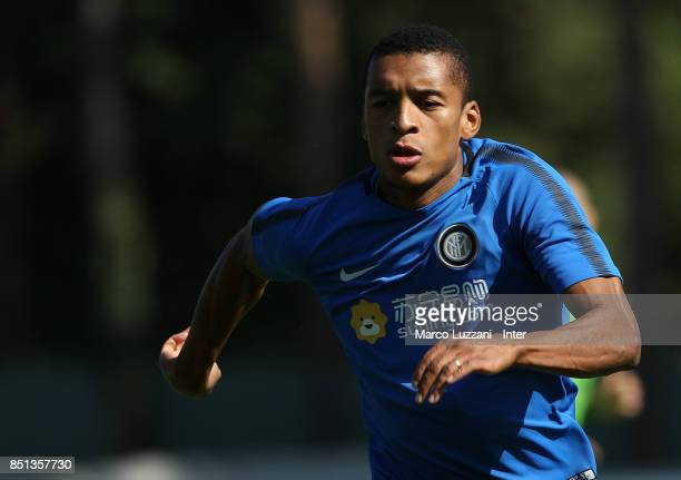 Henrique Dalbert of FC Internazionale runs during the FC Internazionale training session at the club's training ground Suning Training Center in...
