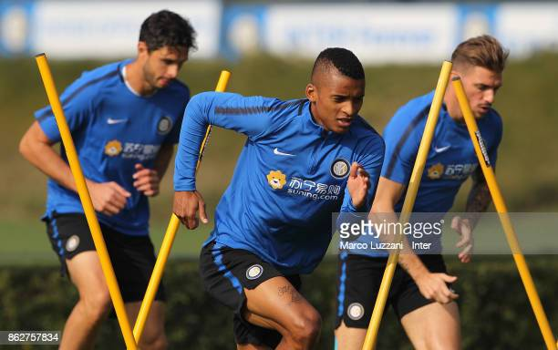 Henrique Dalbert of FC Internazionale trains during the FC Internazionale training session at the club's training ground Suning Training Center in...