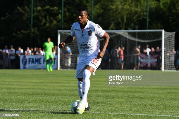 Henrique Dalbert of Nice during the friendly match between OGC Nice and FC Servette Geneve on July 7 2017 in DivonnelesBains France