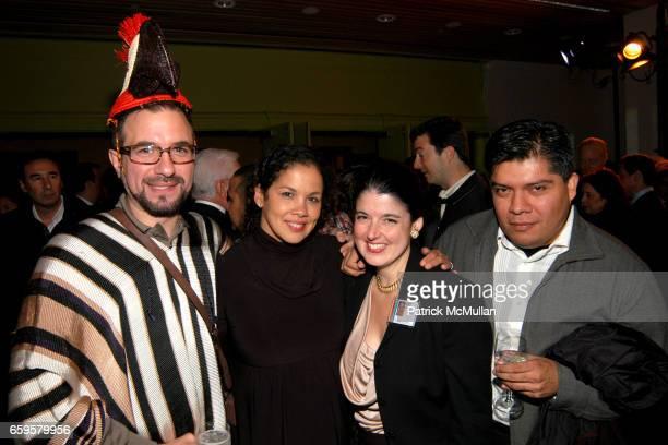Henrique Faria Elia Alba Deborah Cullen and Rafael VargasSuarez attend EL MUSEO DEL BARRIO Inaugural Preview and Reception at El Museo Del Barrio on...