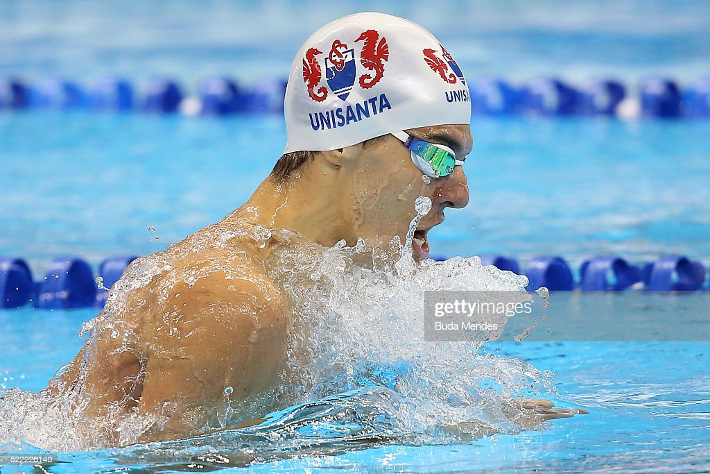Maria lenk swimming trophy aquece rio test event for the rio 2016 olympics day 4 getty images - Olympic swimming breaststroke ...