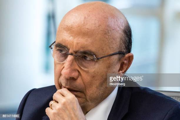 Henrique Meirelles Brazil's minister of finance listens during an interview in New York US on Wednesday Sept 20 2017 Outsider candidates may prevail...
