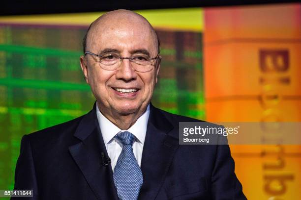 Henrique Meirelles Brazil's minister of finance smiles during an interview in New York US on Wednesday Sept 20 2017 Outsider candidates may prevail...