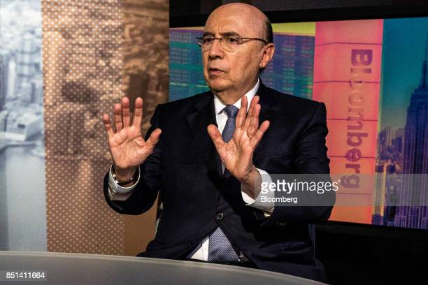 Henrique Meirelles Brazil's minister of finance speaks during an interview in New York US on Wednesday Sept 20 2017 Outsider candidates may prevail...