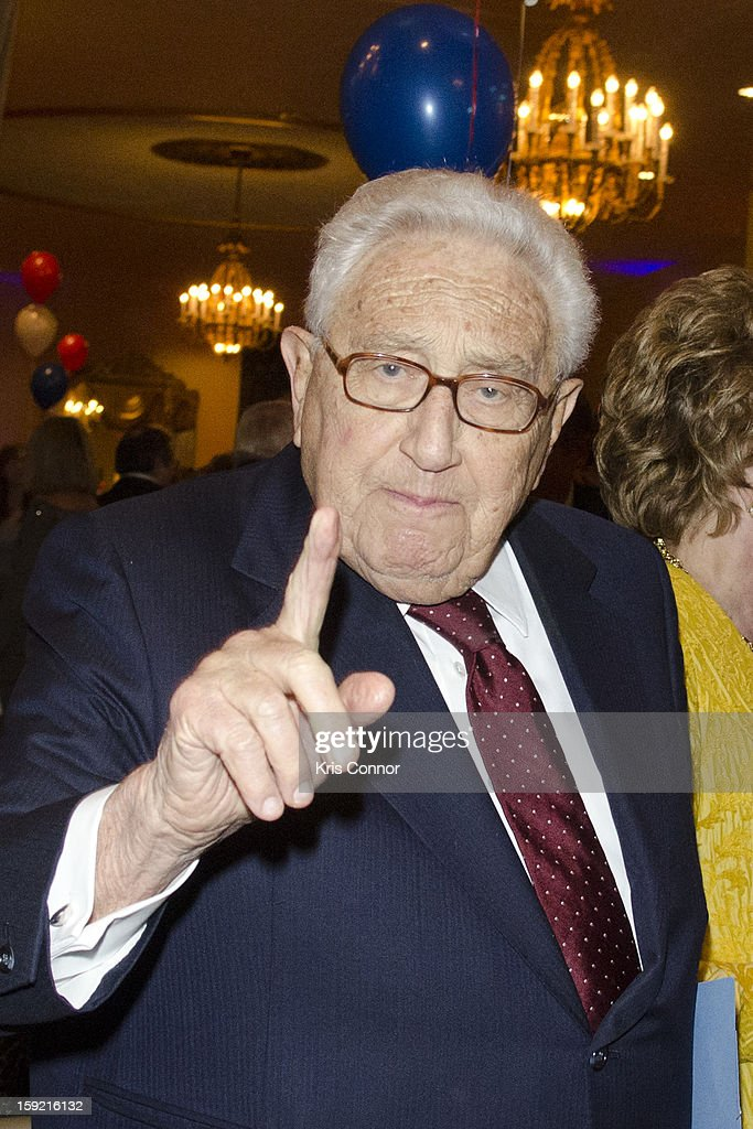 Henry A. Kissinger poses for a photo during President Nixon's 100th Birthday Gala on January 9, 2013 in Washington, United States.