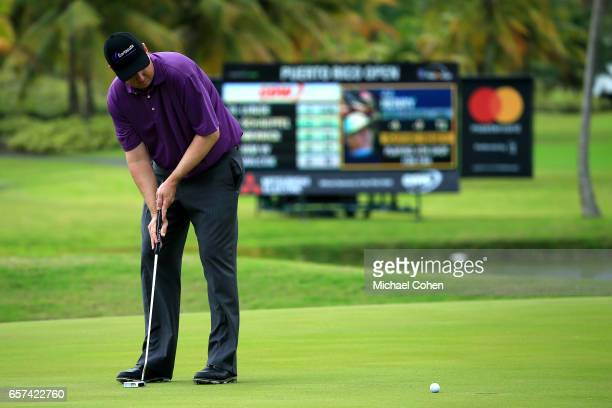 J Henry attempts his putt on the ninth green during the second round of the Puerto Rico Open at Coco Beach on March 24 2017 in Rio Grande Puerto Rico