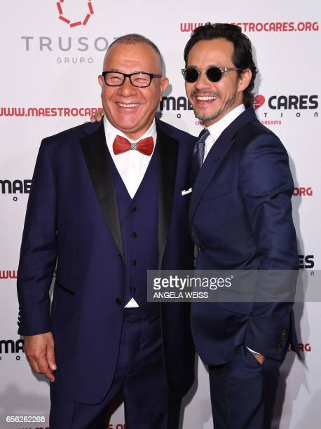 Henry Cardenas and Marc Anthony attend the Maestro Cares Foundation's 4th annual 'Changing Lives/Building Dreams' gala at Cipriani Wall Street on...