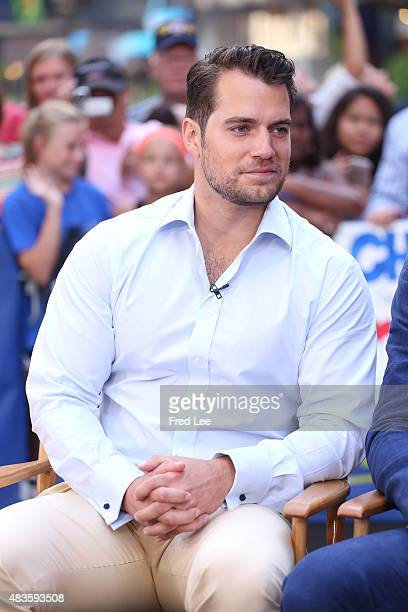 AMERICA Henry Cavill and Armie Hammer talk about 'The Man from UNCLE' on GOOD MORNING AMERICA 8/10/15 airing on the ABC Television Network