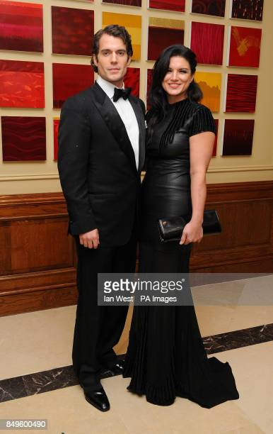 Henry Cavill and Gina Carano arrives at the BAFTA afterparty held at the Grosvenor Hotel in London