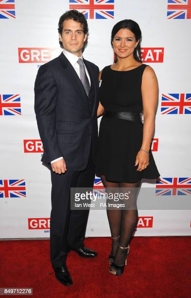 Henry Cavill and Gina Carano attend the GREAT British Film Reception at The British Consul General's Residence in Los Angeles