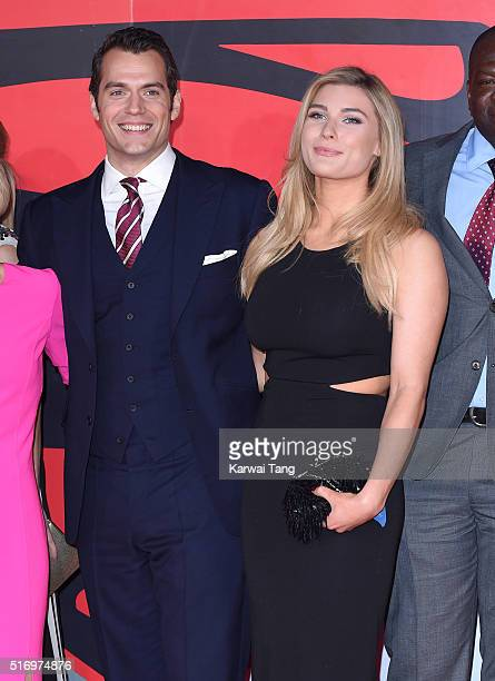 Henry Cavill and Tara King arrive for the European Premiere of 'Batman V Superman Dawn Of Justice' at Odeon Leicester Square on March 22 2016 in...