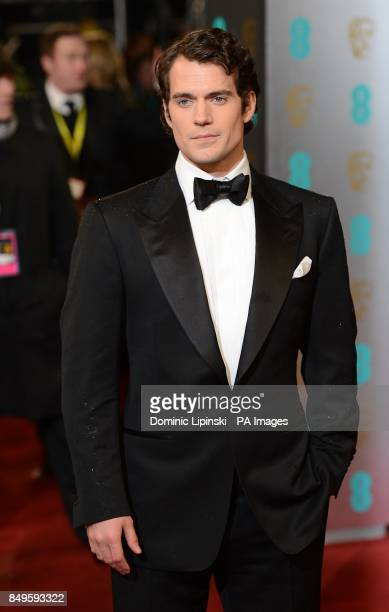 Henry Cavill arriving for the 2013 British Academy Film Awards at the Royal Opera House Bow Street London